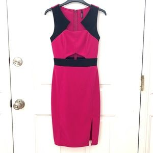 LuLu Hot Pink Sexy Bodycon Midi dress